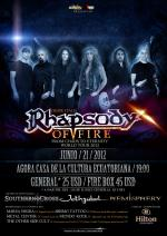 Quito. Rhapsody of fire en Ecuador.
