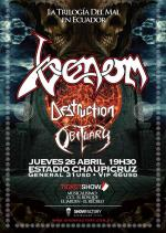 Quito. Venom, Destruction, Obituary,